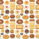 Frukosten för sikten för kakakakor bakar den bästa hemlagade sött illustrationen för vektorn för bakgrund för modellen för ljusbr royaltyfri illustrationer