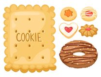 Frukosten för sikten för kakavektorkakor bakar den bästa hemlagade sött för bagerikakan för mat den ljusbruna illustrationen för  Royaltyfria Bilder