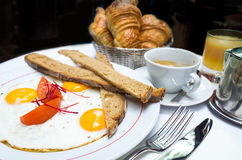 frukostera kaffe Royaltyfri Foto