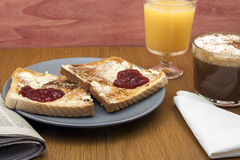 frukostera romantiker Arkivbilder