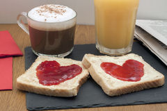 frukostera romantiker Royaltyfri Fotografi
