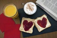 frukostera romantiker Arkivfoto
