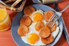 Frukostinställning Arkivfoto