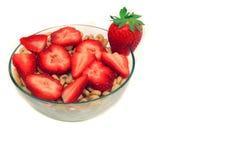 frukostjordgubbe Fotografering för Bildbyråer