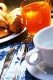 frukostkaffe arkivbilder