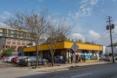 FrukostKlub restaurang i Houston, TX royaltyfri fotografi
