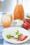 frukostoststuga fotografering för bildbyråer