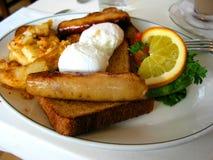 frukostplatta Royaltyfri Foto