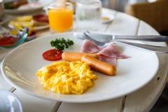 Frukostplatta Arkivbilder