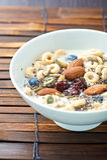 Frukostsädesslag med Chia Seed arkivbild