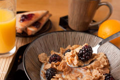frukostsädesslagmorgon royaltyfri foto