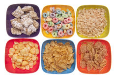frukostsädesslagvariation royaltyfria bilder