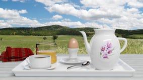 Frukostset Royaltyfri Bild