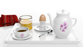 Frukostset Arkivfoton