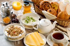frukostset Arkivbild