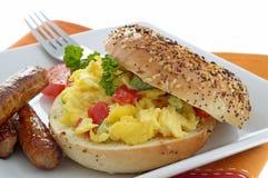 frukostsmörgås royaltyfri foto