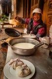 Frukostställning i Kina royaltyfria foton
