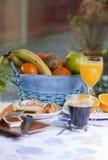 frukosttabell Arkivfoto