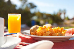 Frukosttabell royaltyfria bilder