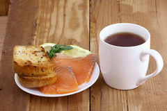 Frukosttesmörgås med Arkivfoto