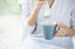 Frukosttetid Fotografering för Bildbyråer