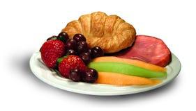 frukostuppläggningsfat Arkivbild