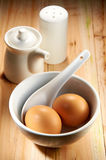 Frukostuppsättning Royaltyfria Foton