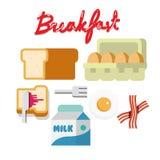 Frukostuppsättning - Royaltyfria Bilder