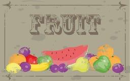 frukt stock illustrationer