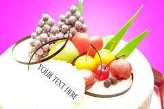 frukt- cake Arkivbild