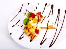 frukt- cheescakechocofröjd Royaltyfri Fotografi
