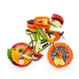 Frukt- cyklist Royaltyfria Foton