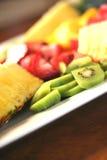 frukt för 2 maträtt Royaltyfri Fotografi