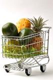 frukt för 2 vagn Arkivfoto