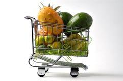 frukt för 4 vagn Arkivbild