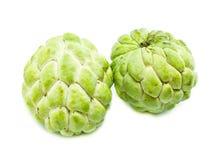 Frukt för vaniljsåsäpple, Annonasquamosa på vit bakgrund Royaltyfria Bilder