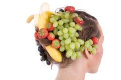frukt- frisyr arkivbilder