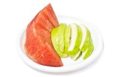 Frukt, guava och vattenmelon Arkivfoto
