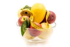Frukt i en crystal vas Royaltyfria Bilder