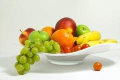 Frukt i en fruktbunke Royaltyfri Fotografi