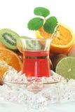 frukt iced tea Royaltyfria Bilder