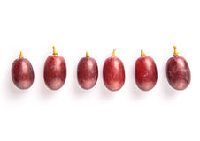 Frukt III för röd druva Arkivfoto