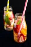 Frukt ingiven drink royaltyfri foto
