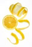 frukt isolerad citronwhite royaltyfria foton