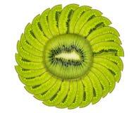 frukt isolerad kiwiwhite Arkivbild