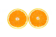 frukt isolerad orange Arkivfoton