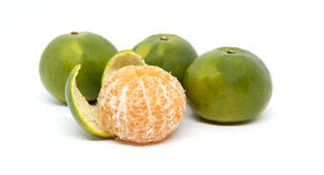 frukt isolerad orange Royaltyfri Foto