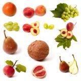 frukt isolerad set Royaltyfri Bild