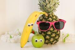 Frukt med ögon royaltyfria foton