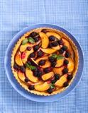 Frukt och bär som är syrliga på plattan Fotografering för Bildbyråer